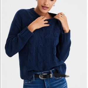 American Eagle chenille cable knit sweater